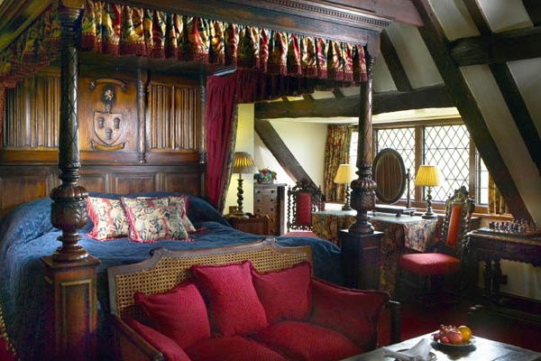 A bedroom at Amberley Castle