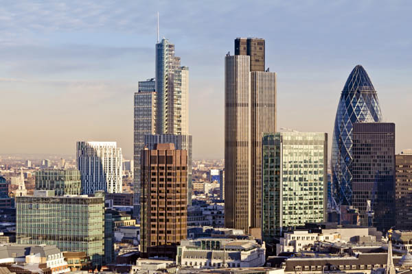 London architectural skyline