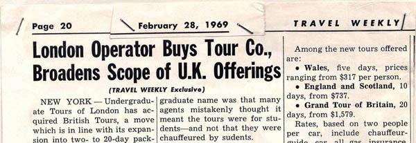 British Tours 1969