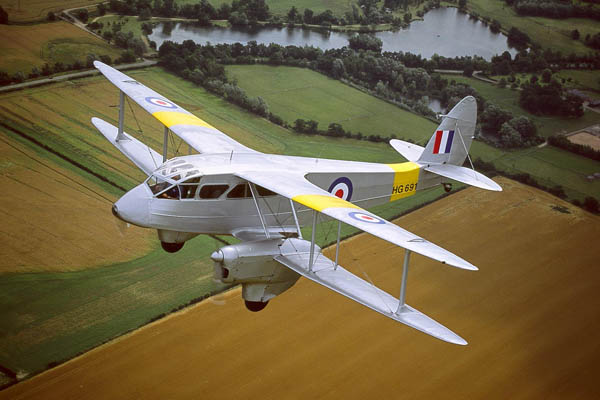 De Havilland Dragon Rapide, flying tour