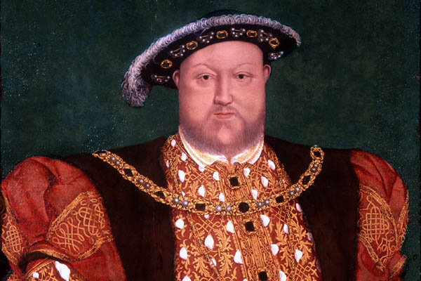 Henry Vlll portrait, kind permission of Historic Royal Palaces