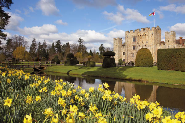 Hever Castle in the Spring