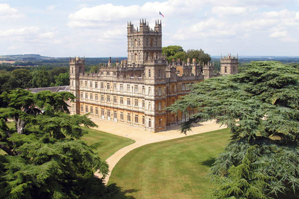 Highclere Castle, setting for Downton Abbey