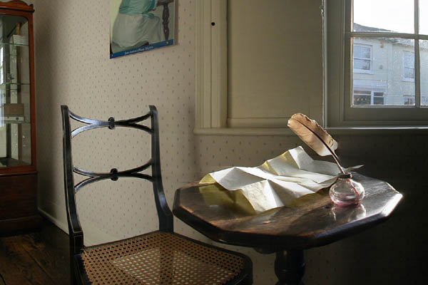 Jane Austen's writing desk at Chawton