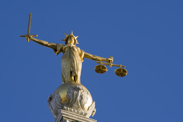 Lady Justice on top of The Old Bailey