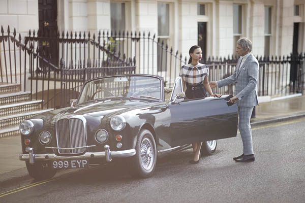 To celebrate the brand's 120 Year anniversary, British music and fashion icon Paul Weller and his daughter Leah Weller feature in the DAKS' 2014 campaign