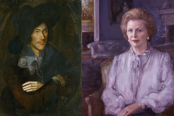 National Portrait Gallery, John Donne and Margaret Thatcher by Rodrigo Moynihan, 1983-85
