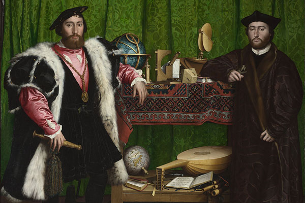 The Ambassadors, Hans Holbein the Younger, 1533 Kind permission of The National Gallery