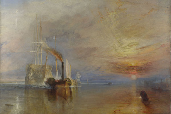 The Fighting Temeraire, Joseph Mallord William Turner, 1839 Kind permission of The National Gallery