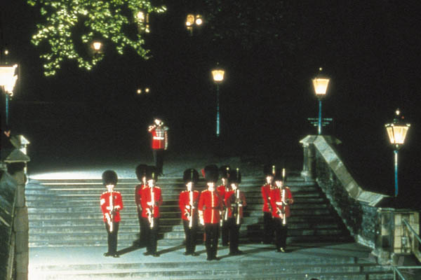 Ceremony of the Keys. The traditional locking up of the Tower of London at night