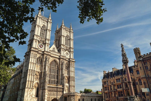 Westminster Abbey, burial place of Kings and Queens of England